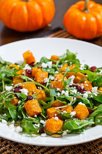 Festive Roast Pumpkin Salad on Closet Cooking