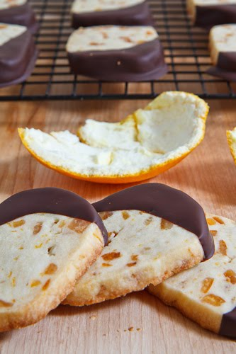 Orange Cookies Dipped in Chocolate