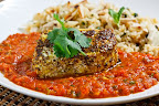 Garam Masala Roasted Halibut in a Tomato Curry Sauce