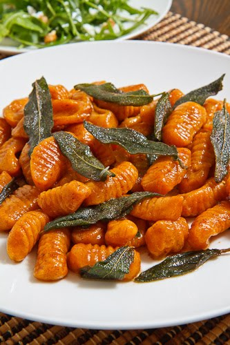 Pumpkin Gnocchi in a Brown Butter and Sage Sauce