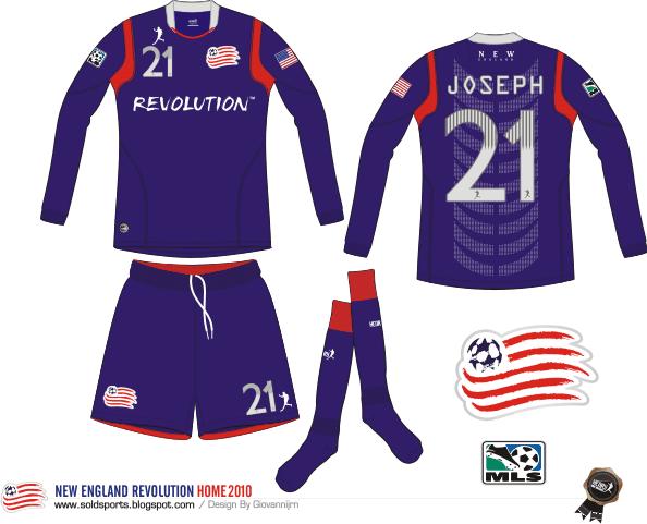 Sold Sports Design New England Revolution Kits