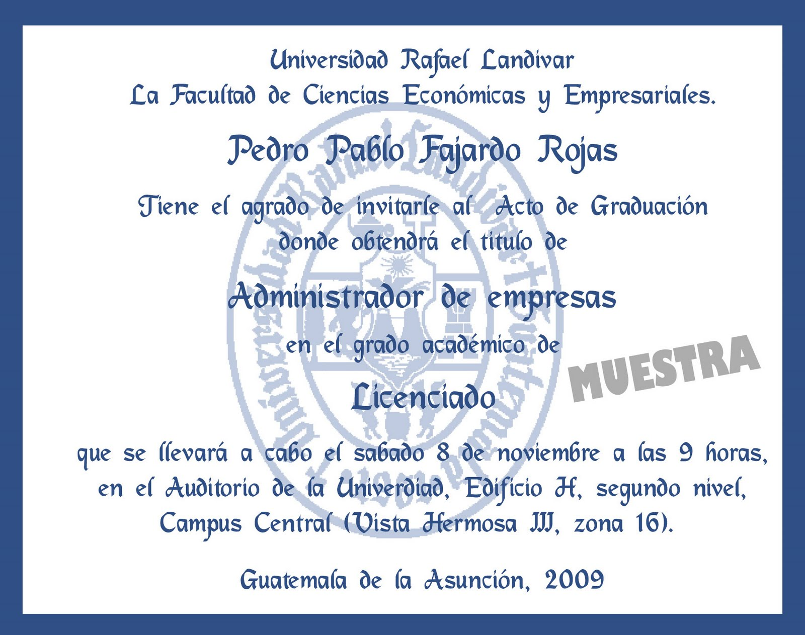 INVITACIONES EXCLUSIVAS