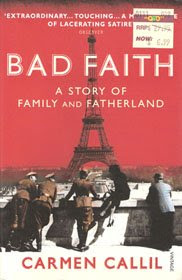 Bad Faith, Carmen Callil, book cover