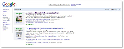 Google Blog Search, New Homepage