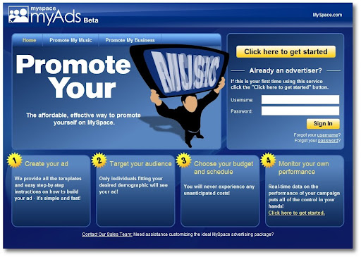 MySpace myAds, Google AdWords alternative