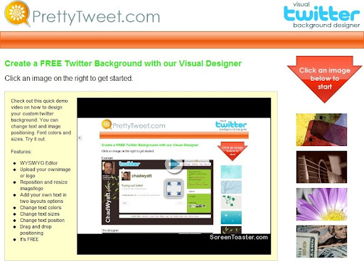 How to make/create a custom and personalized Twitter background in 5 minutes