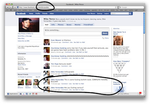 Examples of Facebook Vanity URL hijackings