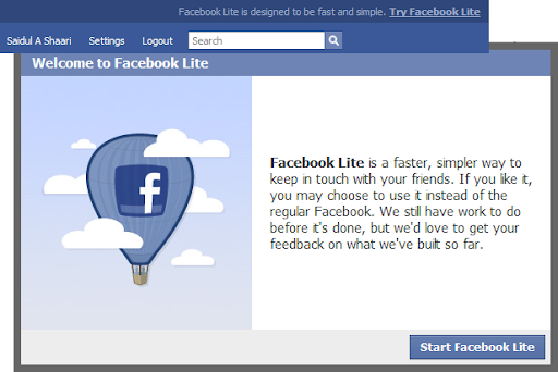 Facebook Lite for Malaysians