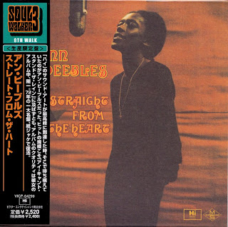 ANN PEEBLES - STRAIGHT FROM THE HEART (HI 1972) Jap mastering cardboard sleeve