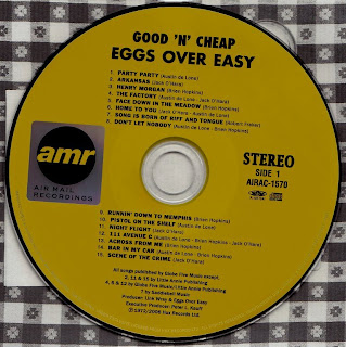 Small Town Pleasures: EGGS OVER EASY - GOOD N' CHEAP (A&M 1972) Jap ...