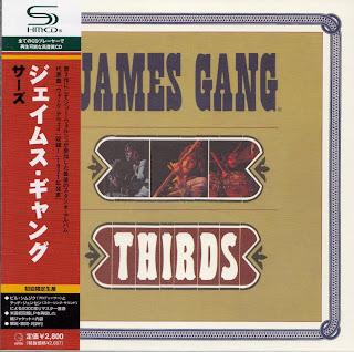 JAMES GANG - THIRDS (ABC 1971) Jap mastering cardboard sleeve