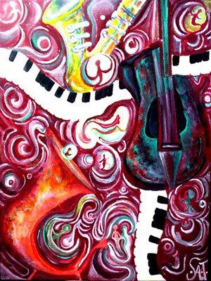 """Joyful Melancholy in A Minor""-Acrylic Painting"