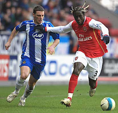 Highlight 09/03/08 Wigan Athletic vs Arsenal