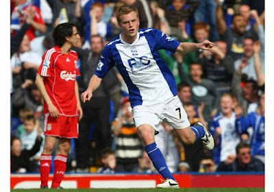 Sebastian Larsson of Birmingham City celebrates scoring