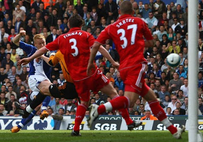 Mikael Forssell of Birmingham City scores the opening goal