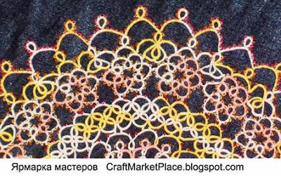 плетение фриволите