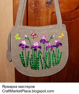 купить вязаную сумку