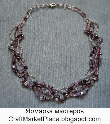 бисер, браслет, колье, Людмила Сироткина, украшения, украшения из бисера