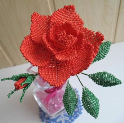 Светлана Яценко, бисер цветы, бисерные цветы, плетение бисером цветов, цветы из бисера