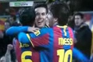 Barcelona goleó 5-0 al Almería, Copa del Rey, 26 de enero 2011