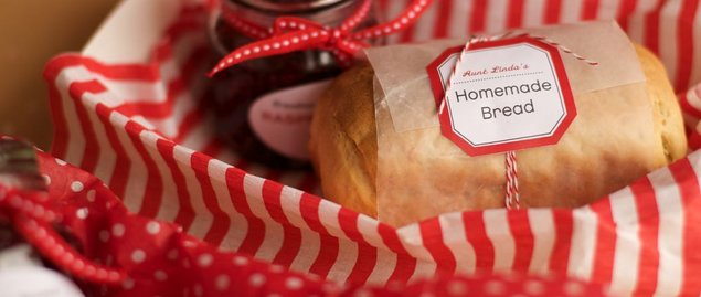 Homemade bread christmas gifts