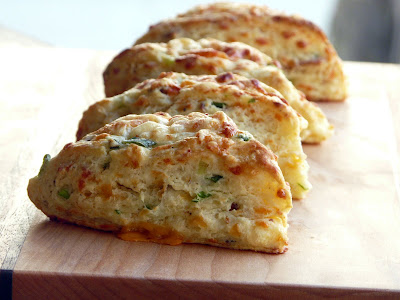 Bacon, Cheddar and Green Onion Biscuits by Thibeault's Table