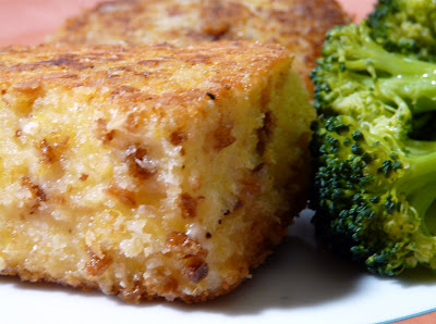calls for Panko, but I much prefer using fresh made bread crumbs ...