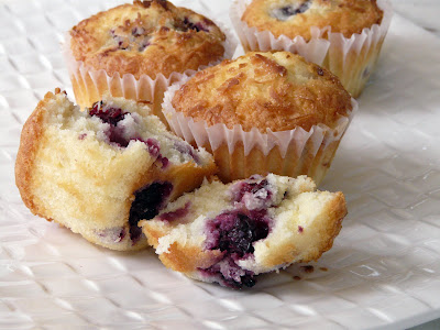 Thibeault's Table: Blackberry Coconut Pound Cake Muffins