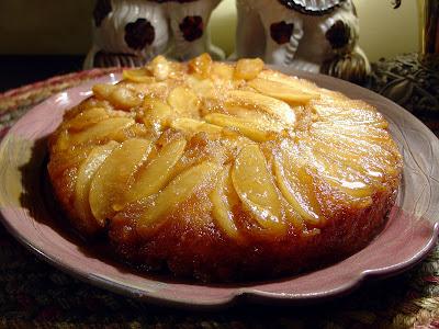 apple upside down cake karen s recipe riverrat fresh apple upside down ...