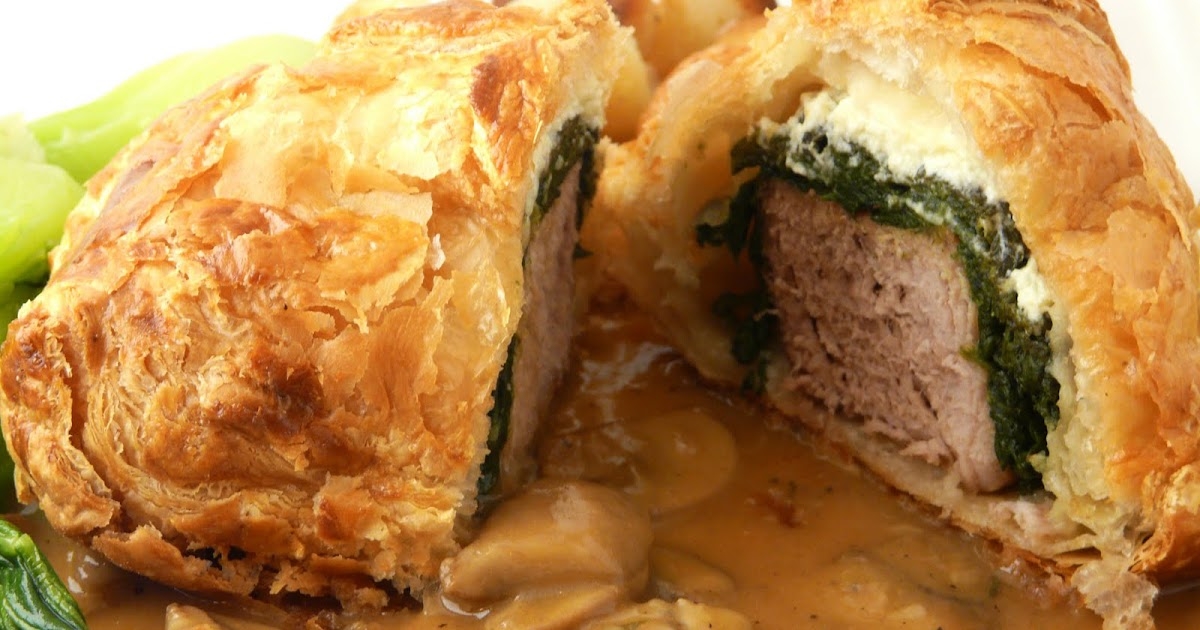 Thibeaults TablePork Wellington with Mushroom Sauce