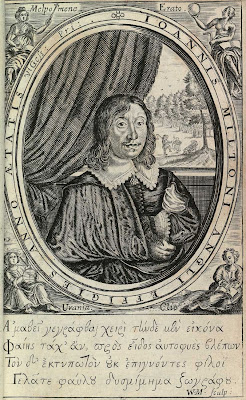 John Milton, 1645, engraving by William Marshall