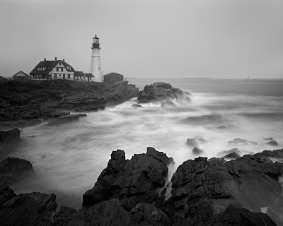 Portland Head Lighthouse - Travis Lovell - Black and White large format