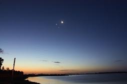 Conjuncion Luna-Venus-Jupiter