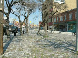 Photo by phat phixer: the intersection of St. Johns and Dundas West would make a great public square