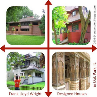 Frank Lloyd Wright Designed Houses in Oak Park, IL, by artjunction