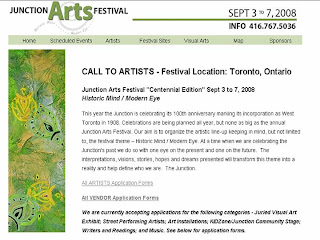Call to Artists: The Junction Arts Festival - September 3 to 7, 2008