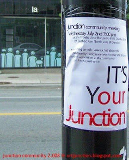 The West Toronto Junction Community Meeting 2008 Poster, photo by artjunction