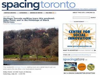 Heritage Toronto Walks: Baby Point, screenshot of spacing toronto