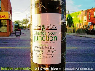 Poster: Change Your Junction: Bring Your Ideas, Photo by artjunction.blogspot.com