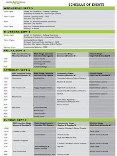 Toronto Junction Arts Festival 2008: Schedule of Events