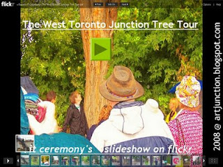 West Toronto Junction Tree Tour: IT Ceremony's Slideshow on Flickr, by artjunction.blogspot.com