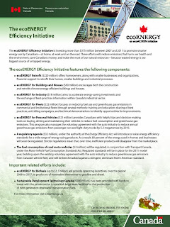 ecoENERGY Efficiency Initiative for Buildings and Houses