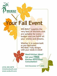 Poster: Wo-Built's Free Kitchen Renovation Consultations Until December 21, 2008