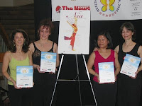 Nia Instructors Laura Comparey, Jane Markowitz, Elizabeth Mierzynski and Tessie Ostonal at the Health Living Expo 2006