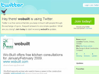wobuilt is using twitter
