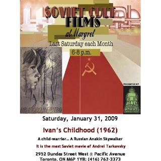 Poster: Soviet Cult Films at Margret Ivan's Childhood Andrei Tarkovsky, by artjunction.blogspot.com
