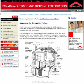 Screenshot: CMHC Assessing Renovation Project