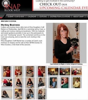 Screenshot: SNAP Bloor-West Toronto: Monkey Business at Wise Daughters in the Junction