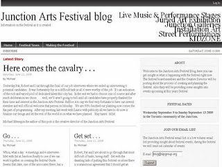 Screenshot: West Toronto Junction Arts Festival blog