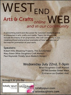 Flyer: Toronto West End Web: Arts & Crafts Online And In Our Community